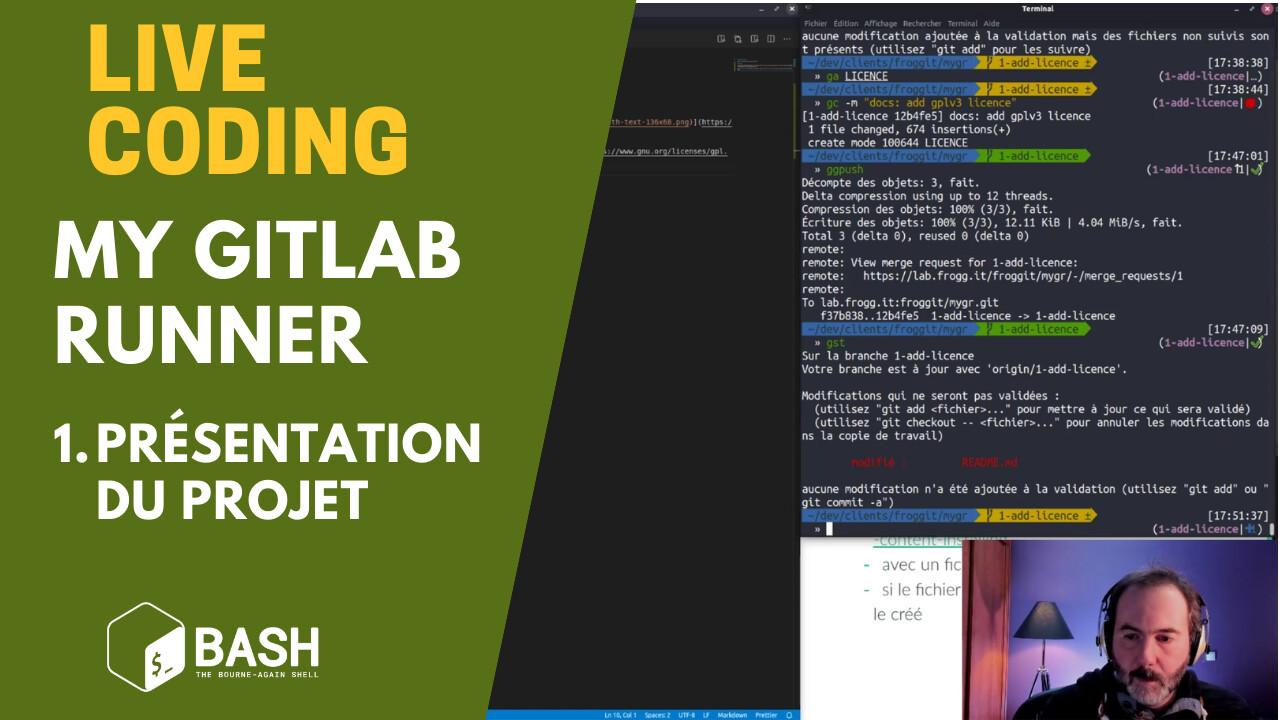 YT _ Live Coding _ Bash _ My GitLab Runner 1
